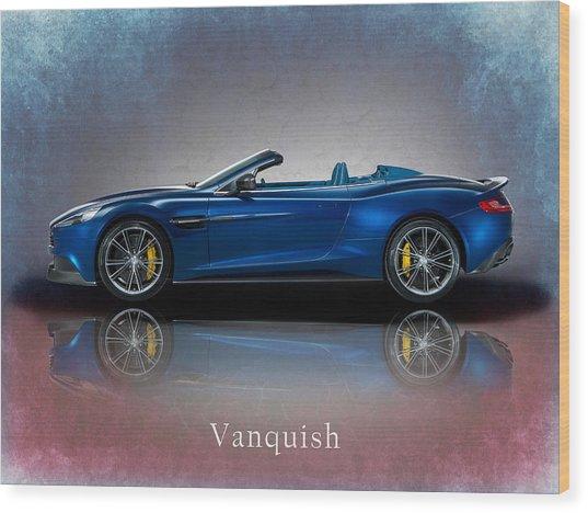 Aston Martin Vanquish Volante Wood Print