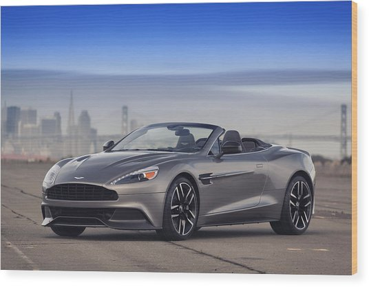 Wood Print featuring the photograph Aston Vanquish Convertible by ItzKirb Photography