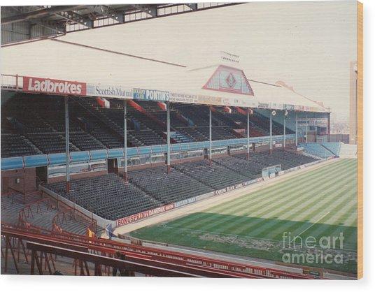 Aston Villa - Villa Park - West Stand Trinity Road 1 - Leitch - April 1991 Wood Print