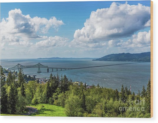 Astoria - Megler Bridge Wood Print