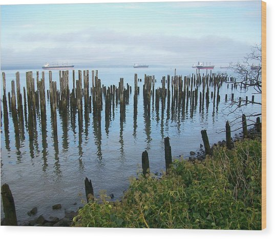 Astoria Ships  Wood Print
