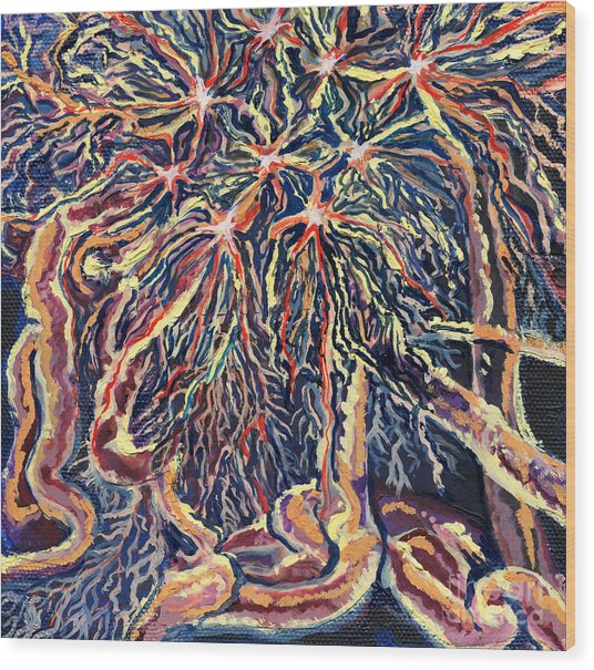 Astrocytes Microbiology Landscapes Series Wood Print