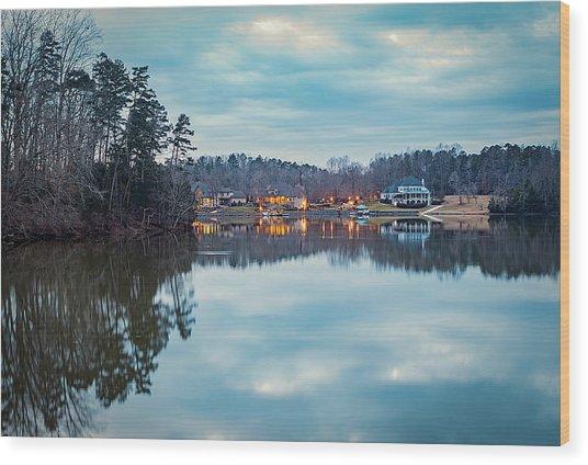 At Home On The Lake Wood Print