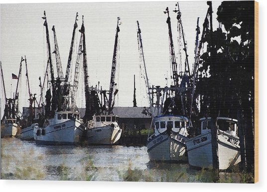At Rest Watercolor Wood Print by Michael Morrison