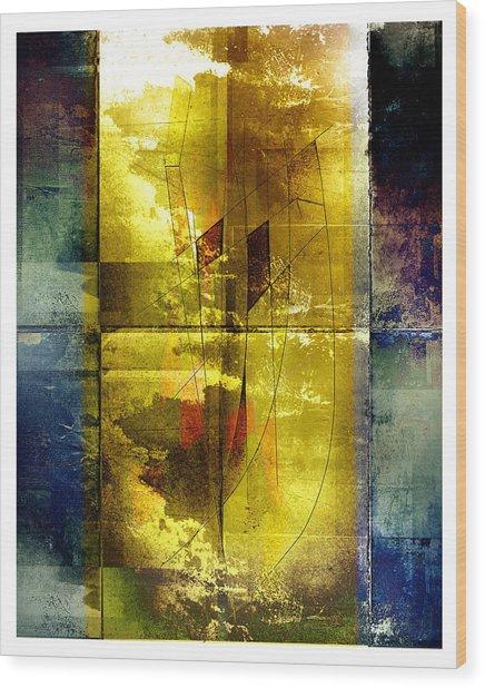 At Sea Wood Print by Geoff Ault