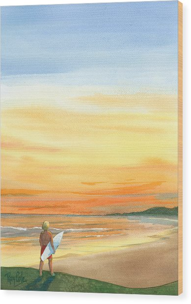 At Sunset Wood Print by Ray Cole