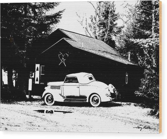 At The Cabin Wood Print