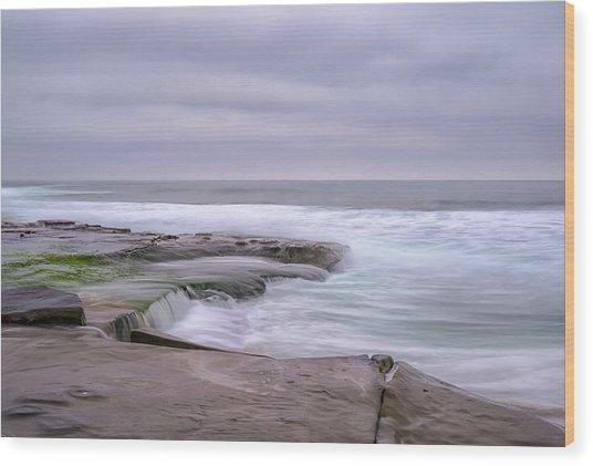 At The Edge Of The Sea Wood Print