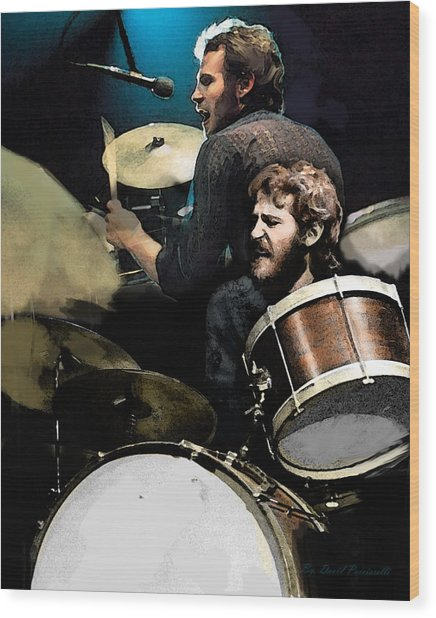 At The Helm  Levon Helm  Wood Print