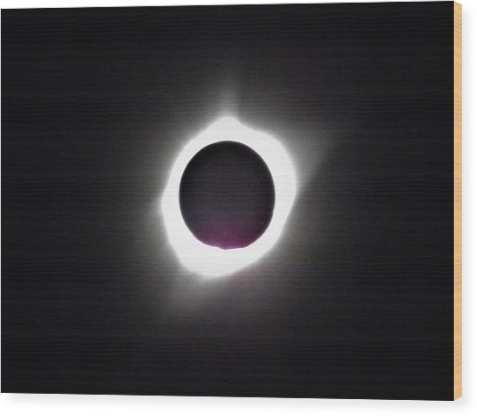 At The Moment Of Totality Wood Print