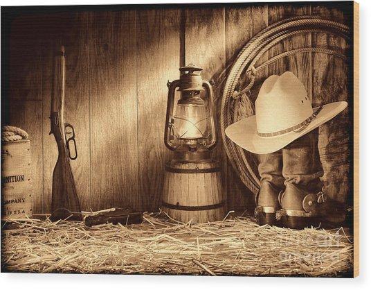 At The Old Ranch Wood Print
