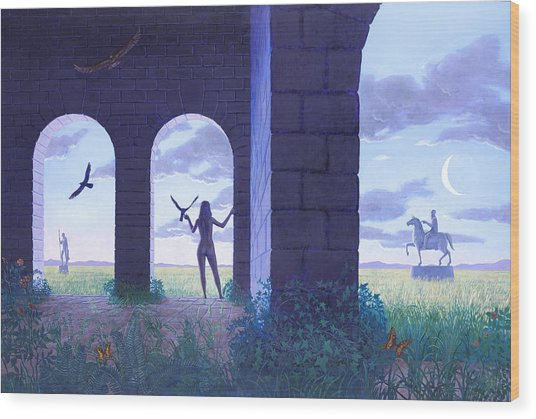 At The Threshold Wood Print by Jonathan Day