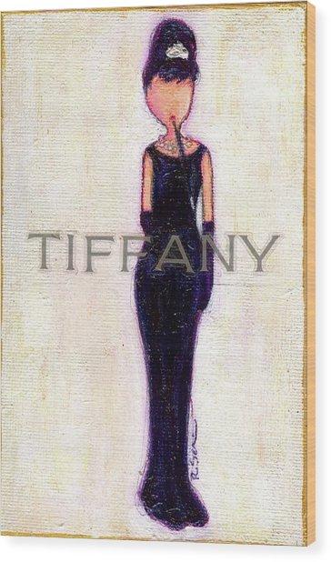 At Tiffany's Wood Print