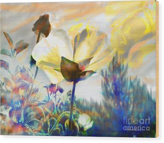 Atardecer En Primavera Wood Print