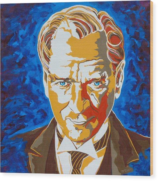 Ataturk Wood Print by Dennis McCann