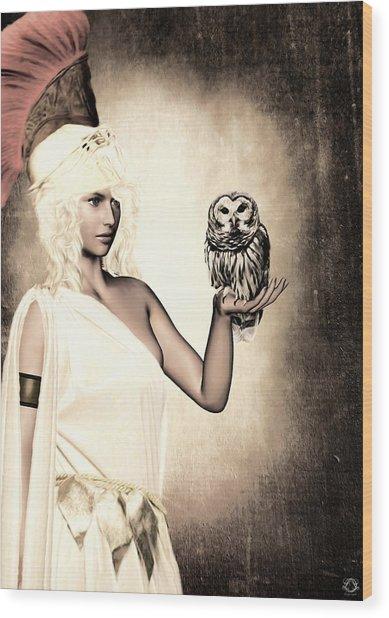 Athena Wood Print