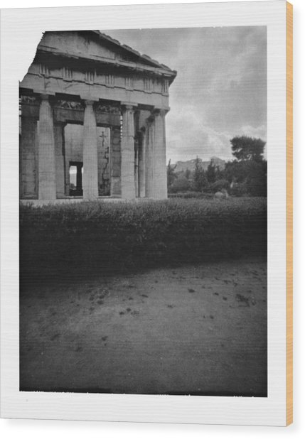 Athens Temple Of Ephesus Wood Print by Luca Baldassari