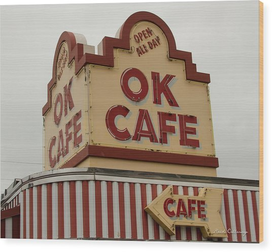Atlanta Classic Ok Cafe Atlanta Restaurant Art Wood Print