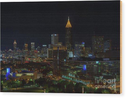 Atlanta Nights Wood Print