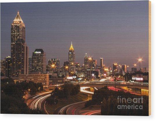 Atlanta Skyline - Scad Wood Print