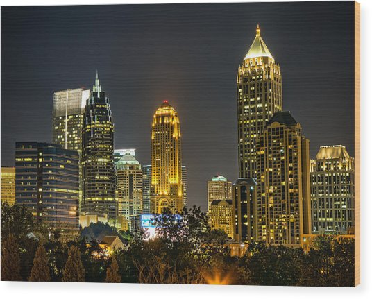 Atlanta Skyscrapers  Wood Print