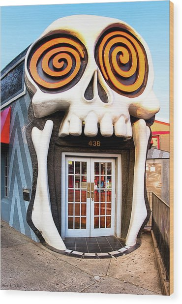 Wood Print featuring the photograph The Vortex In Eclectic Little Five Points by Mark E Tisdale