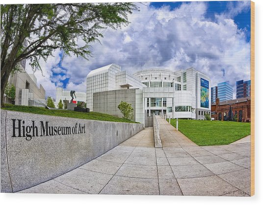 Wood Print featuring the photograph Atlanta's High Museum by Mark E Tisdale