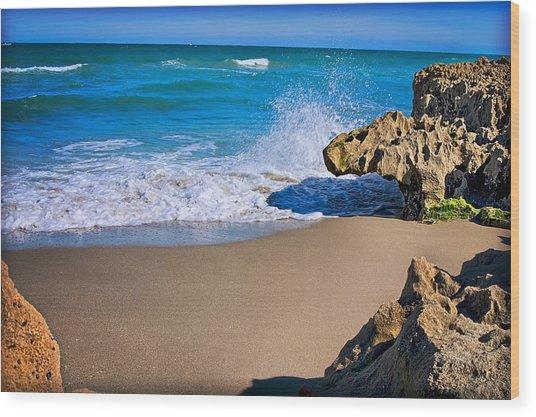 Atlantic Beach Wood Print