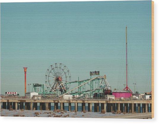 Atlantic City Steel Pier Amusements Wood Print