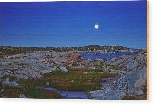Atlantic Moon  Wood Print