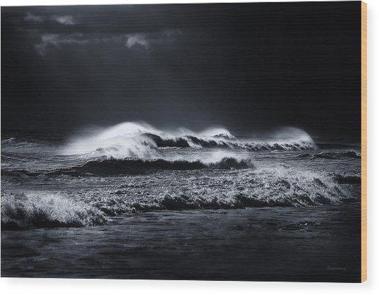 Atlantic Ocean Wood Print by Dapixara Art