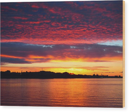 Atlantic Sunrise Wood Print