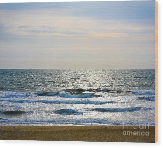 Atlantic Sunrise - Sandbridge Virginia Wood Print