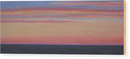 Atlantic Sunset Wood Print by Jane  Simonson