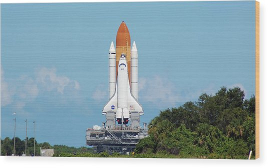 Atlantis Rollout Wood Print by Mark Weaver