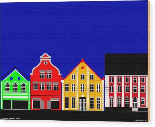 Atmosphere Haderslev Denmark Wood Print by Asbjorn Lonvig