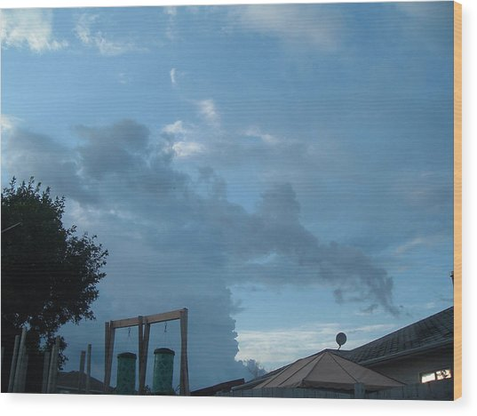 Atmospheric Barcode 19 7 2008 18 Or Titan Wood Print by Donald Burroughs