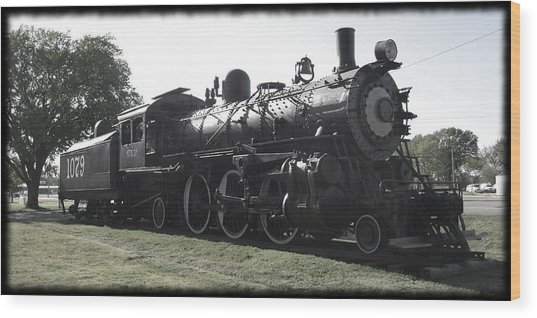 Atsf 2-6-2 Locomotive 1079 Diminished Wood Print