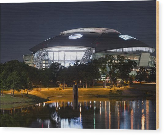 Dallas Cowboys Stadium 1016 Wood Print