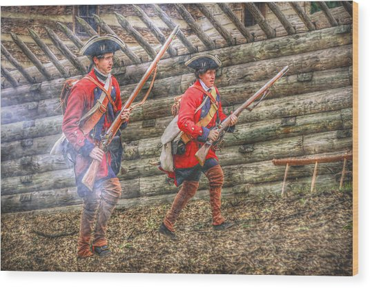 Attack On Fort Ligoner French And Indian War Wood Print by Randy Steele