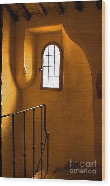 Attic Stairs-fiesole St.francis Monastery Wood Print