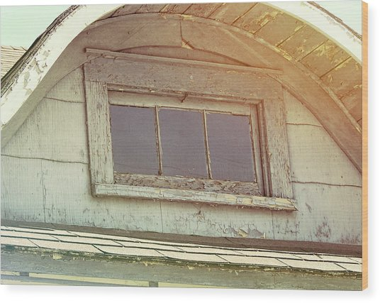 Attic View Wood Print by JAMART Photography