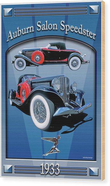 Auburn Salon Speedster V12 Wood Print