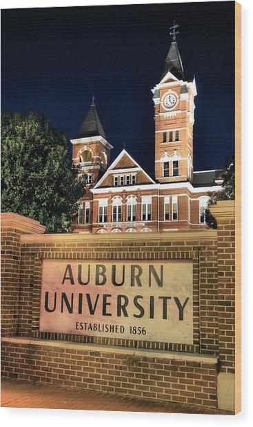 Auburn University Wood Print