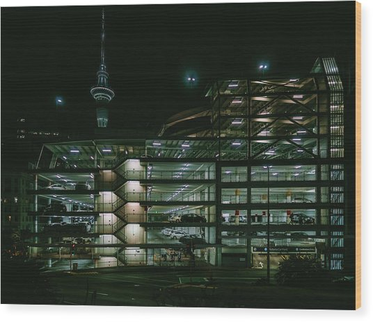 Auckland Nights Wood Print