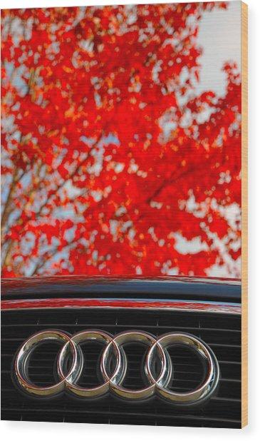 Audi Wood Print