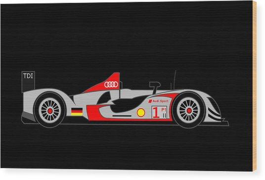 Audi R15 Wood Print by Asbjorn Lonvig