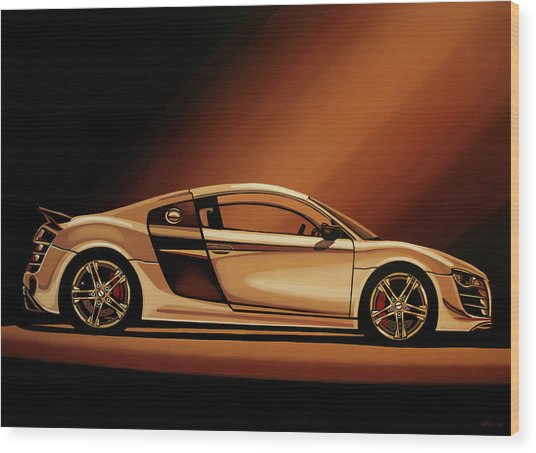 Audi R8 2007 Painting Wood Print