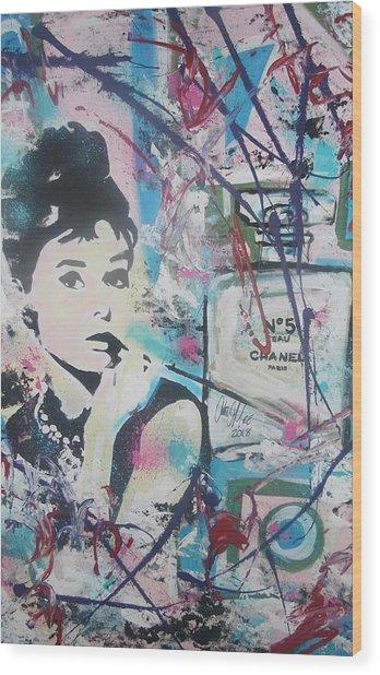 Audrey Chanel Wood Print