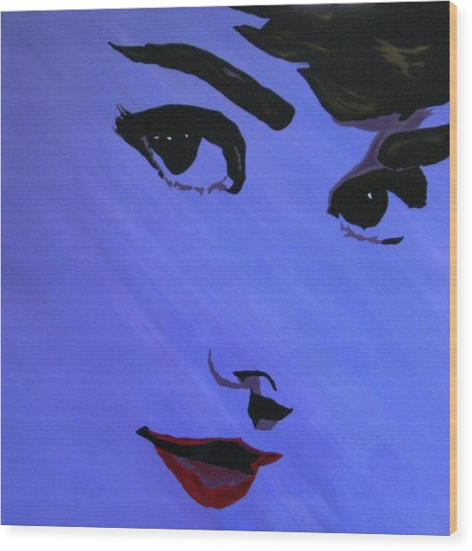Audrey Hepburn-eyes For You Wood Print